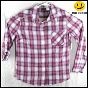 NEW! Thin Button Up Long Sleeve Large